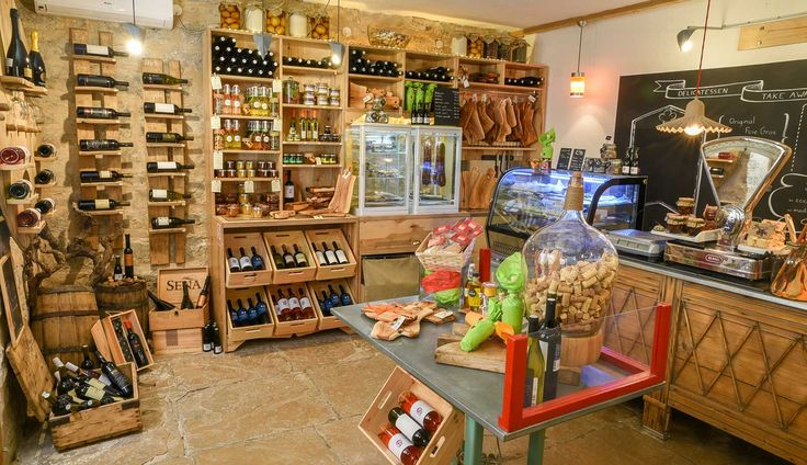 Delicatessen shop in Stari Grad, island of Hvar, Dalmatia, Croatia