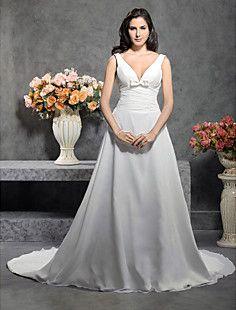 OLIANA - Vestido de Novia de Gasa y Satén – CLP $ 84.507