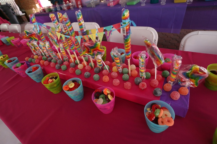 Candyland theme; Centerpiece Idea