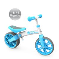 Y Velo Junior Blue/ Suitable for children aged 18 months+. Helps kids develop an early sense of balance and control, along with independence, self-confidence and happiness! Children can progress to a normal bicycle at the age of 3 or 4 without having to use training wheels / stabilizers.