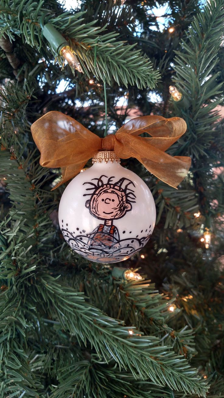 Pigpen Ornament, hand drawn, hand made, hand painted, peanuts, charlie brown, lucy, linus, snoopy, woodstock, cartoon, animated, christmas by allthingsmaddi on Etsy https://www.etsy.com/listing/258291987/pigpen-ornament-hand-drawn-hand-made