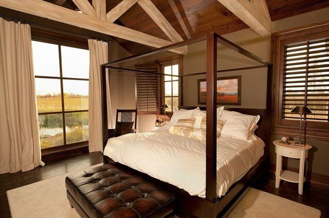 Salon Marocain Moderne Bruxelles :  inspirer chambre à coucher avec déco en bois style japonais coucher