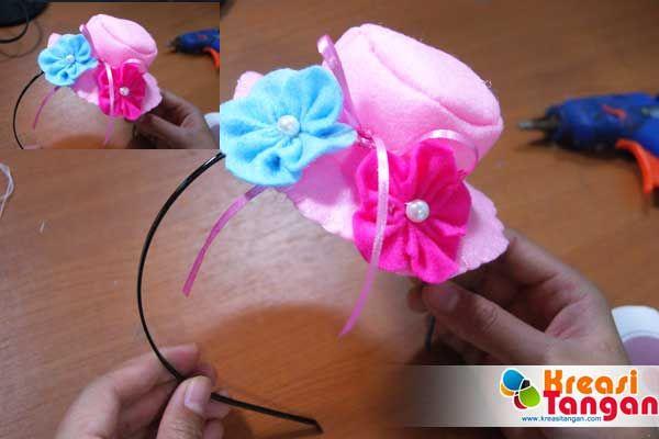Tutorial Cara Membuat Bando Topi Dari Kain Flanel