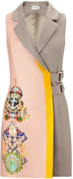 Love this: Mary Katrantzou Beta Dress Racer Mushroom Pink @Lyst