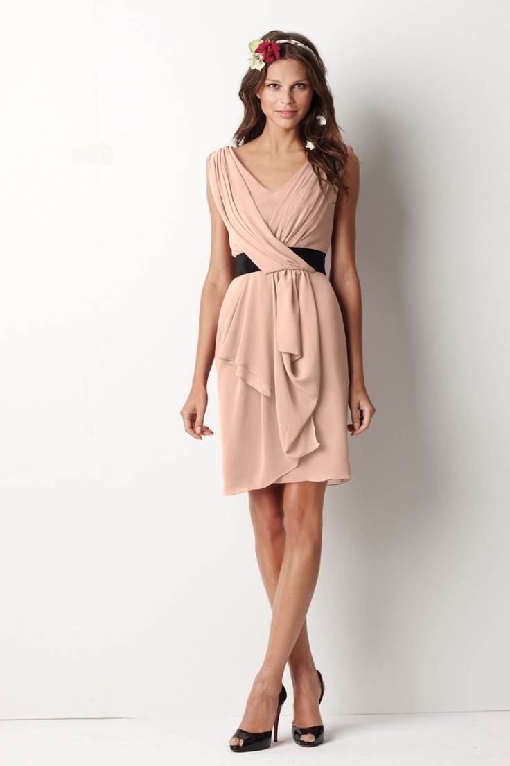The perfect bridesmaid to cocktail dress? (you can customise the belt colour too!)