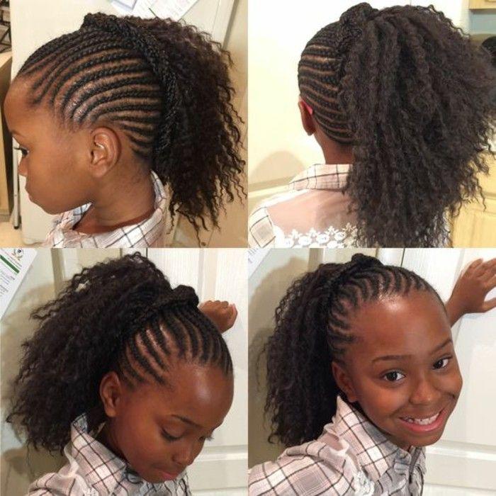 Tresses Collees Africaine Pour Petite Fille Tresses Senegalaises Salon De Coiffure Afro Tresses Africaines