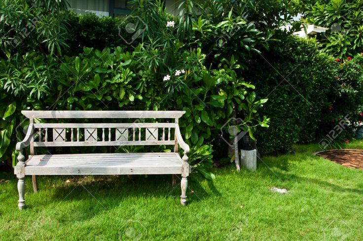 Vintage Wooden Bench In The Garden Stock Photo, Picture And Royalty Free Image. Image 11785455.