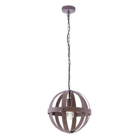 Designové závěsné svítidlo složené z kovových pásů.  Povrchová úprava evokuje rez.  Žárovka není součástí balení.