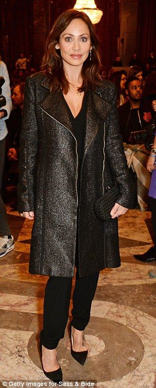 Natalie Imbruglia stuns in sparkly coat Sass & Bide show in London Fashion Week show | Daily Mail Online