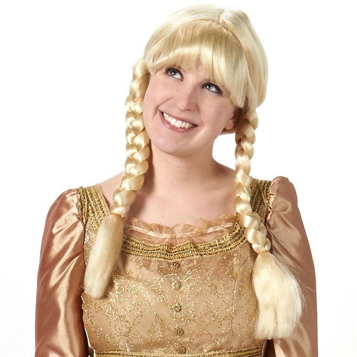 Adult Blonde Braided Costume Wig, Women's, Yellow
