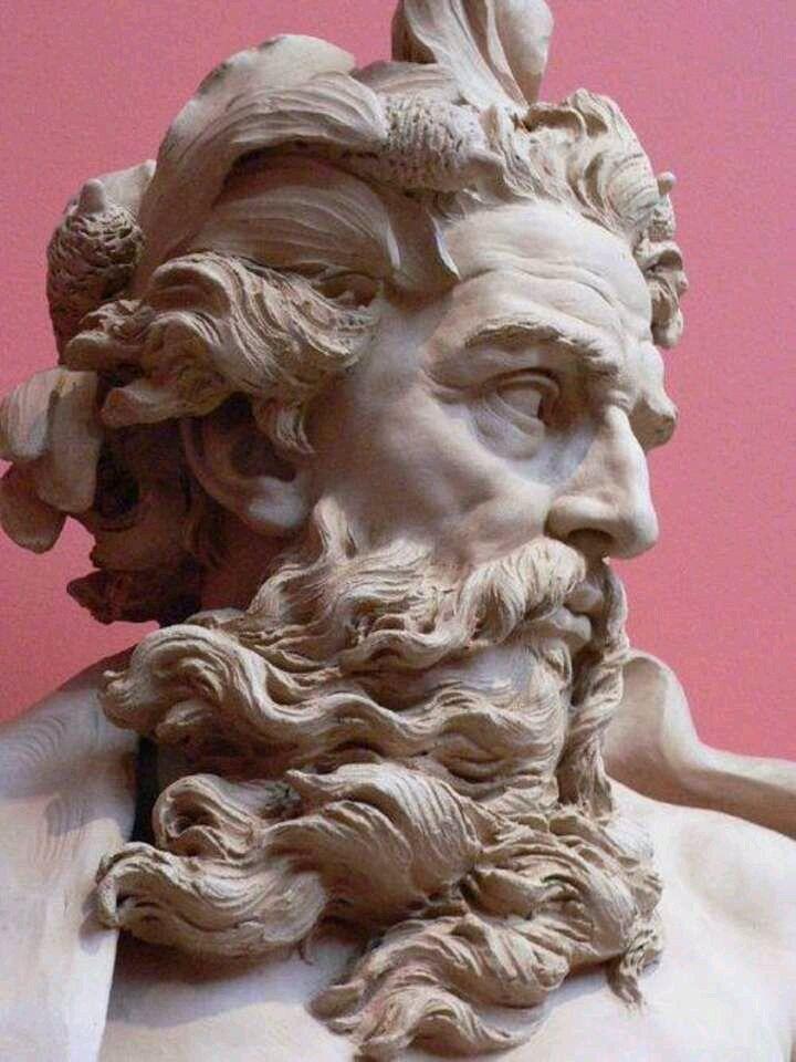 """""""NEPTUNUS"""". Dio del mare,fratello di Giove e figlio di Saturno (1725).#art #sculpture Los Angeles County Museum"""