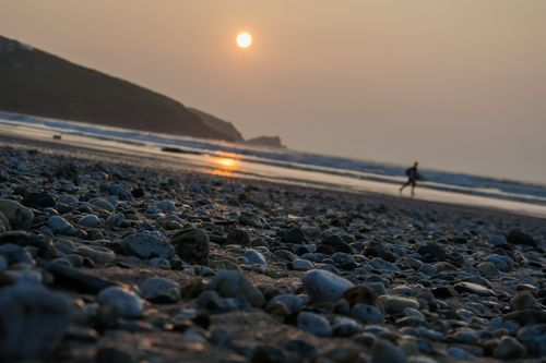 Maiden in Cornwall - Fistral Lovin' - Sunset and surf down at Fistral