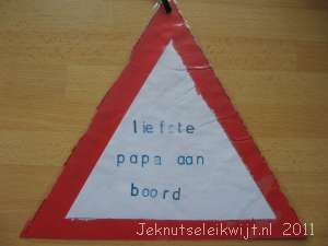 Vaderdag verkeersbord,  dearest Daddy on board!