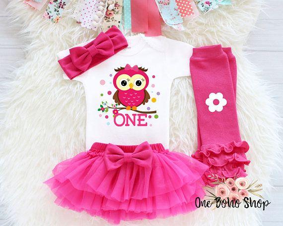 Owl First Birthday Outfit First Birthday Outfit Girl 1st