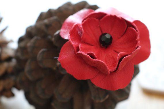 Poppy Pendant by BEMillinery on Etsy