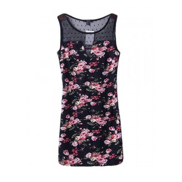 Choies Vintage Floral Bodycon Dress With Mesh Plane (€28) ❤ liked on Polyvore featuring dresses, vintage cocktail dresses, bodycon dresses, white body con dress, floral bodycon dress and floral dresses