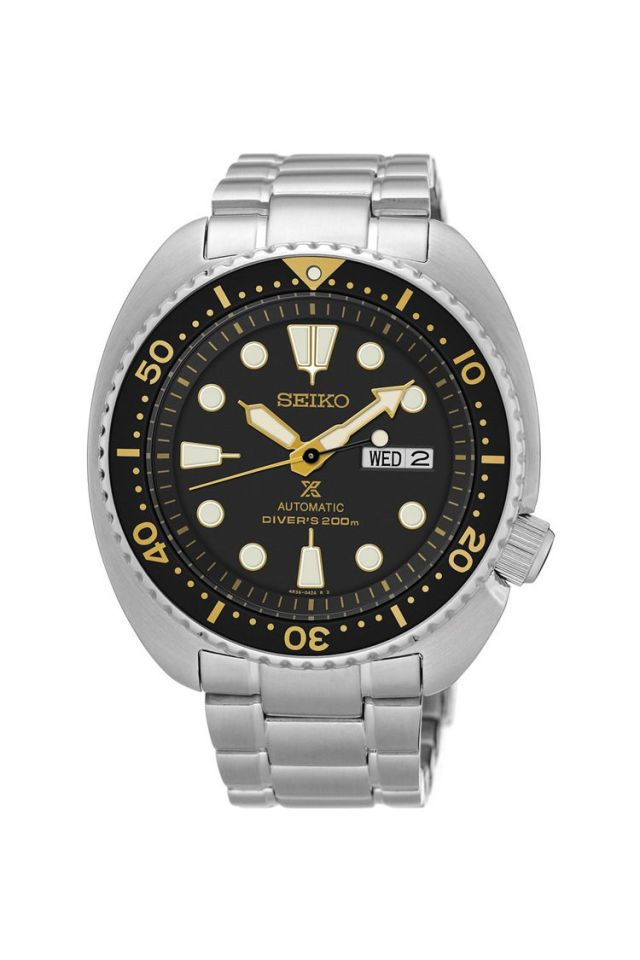 """Best Under $400A classic design based on one of Seiko's highly collectible vintage divers, the Seiko 6309, this new SRP775 — and its black and white sibling the SRP777 (also known as """"the turtle"""") — has immediately become the new Seiko that every watch enthusiast must own. This is a clean and simple dive watch with a killer vintage case shape that, much like a long legacy of Seiko divers, will be a trusted workhorse that you can expect to live in your collection for decades."""