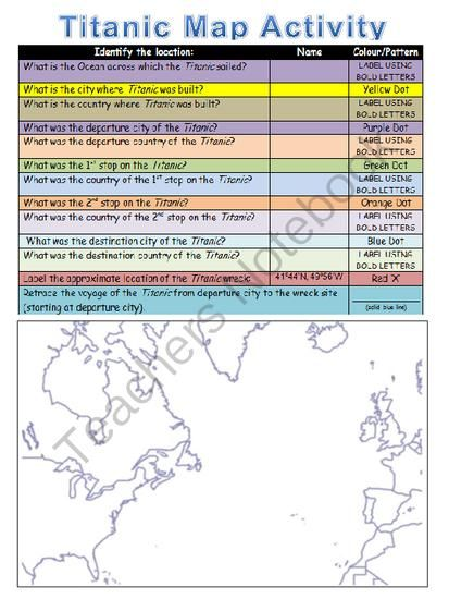 Titanic Unit & Lesson Plan Activities from The Classroom Sparrow on TeachersNotebook.com (33 pages)