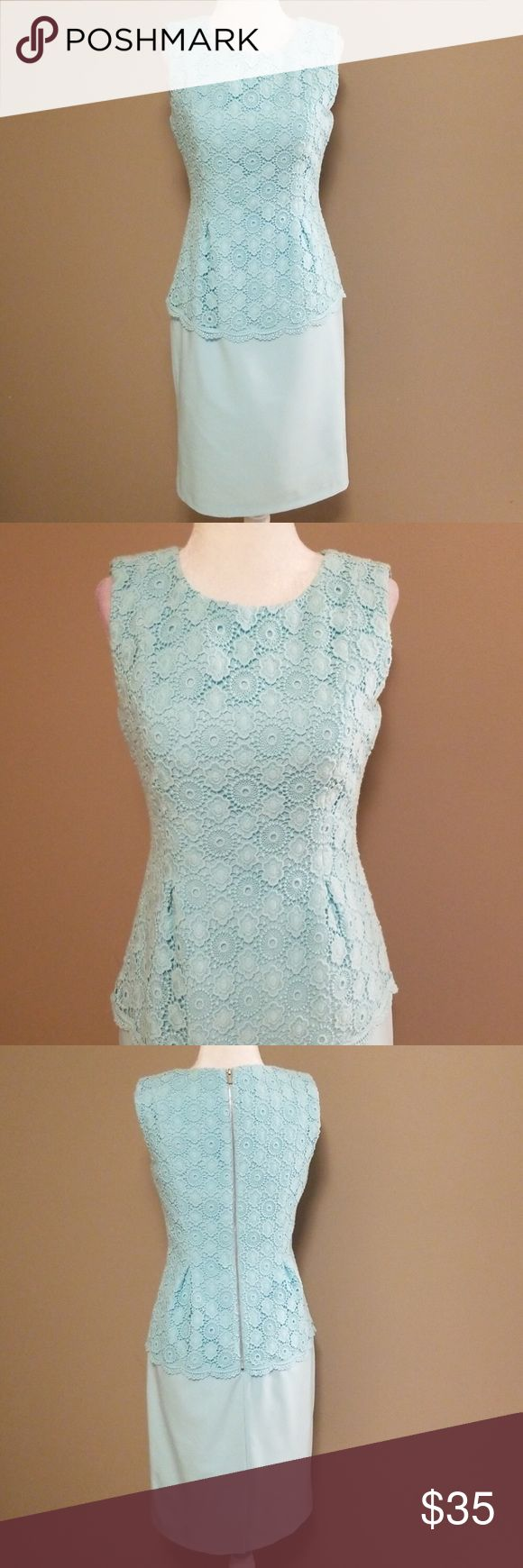 Calvin Klein peplum-stijl jurk Mooi robin ei blauw. Perfect voor zomerhuwelijk …
