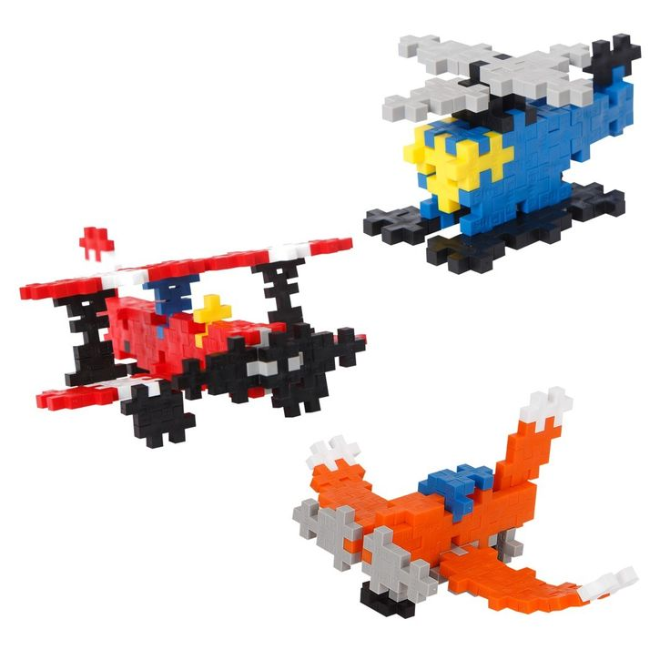 Plus-Plus Mini-Basic: Get high up in the air with these aircrafts built from Plus-Plus! A guide on how to build these is included. Of course, you can use the pieces to build anything you want!