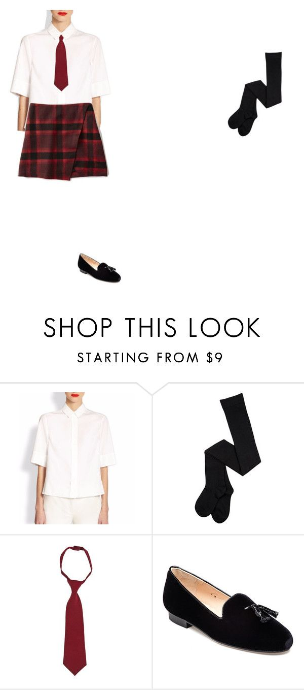 """""""h"""" by pilarnogueira ❤ liked on Polyvore featuring Akris, French Toast, Jon Josef and Abercrombie & Fitch"""