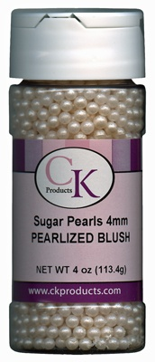 Blush Edible Pearls for Cake Decorating - Pink Frosting Party & Wedding Shop