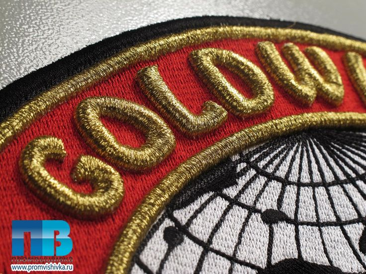 ЗД вышивка золотом Goldwing