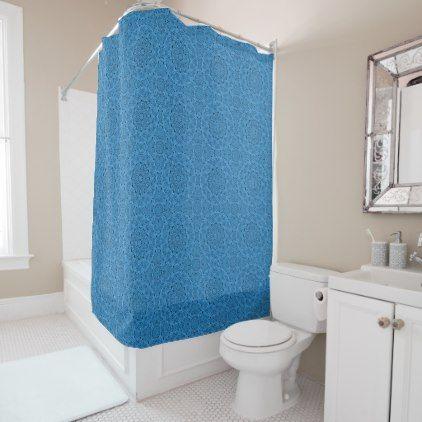 Decorative Blue Vintage  Shower Curtain - shower gifts diy customize creative