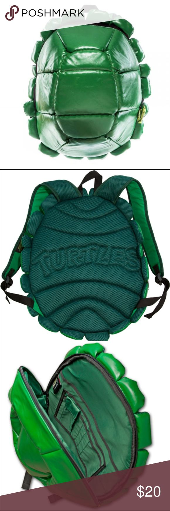 Teenage Mutant Ninja Turtles Shell Backpack Super awesome TMNT shell Backpack in mint condition. Used a couple times, more of an impulse buy for me. Clearing out my closet for a mug move coming up soon! Reasonable offers welcome!! Nickelodeon Accessories Bags