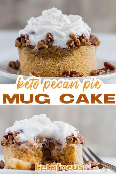 Keto Pecan Pie Mug Cake Recipe - Ketofocus | Recipe in ...