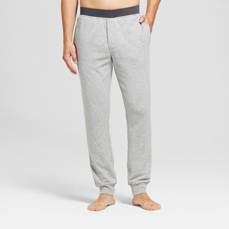Men's Big & Tall Jogger Pajama Pants - Goodfellow & Co Light Heather Gray Xxlt