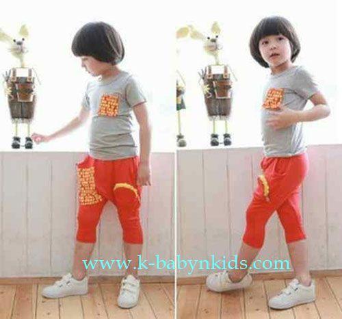 Setelan Abu Merah Plant Brand : QEQEBO Harga Rp 80.000,-  Grosir Perlengkapan Bayi dan Anak Terbaik di Jakarta ONLINE Via Web : www.k-babynkids.com SMS ke 08170759660 BB ke 281341B0