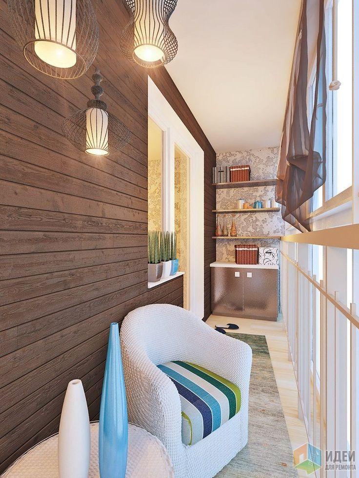 Дизайн балкона, отделка балкона вагонка