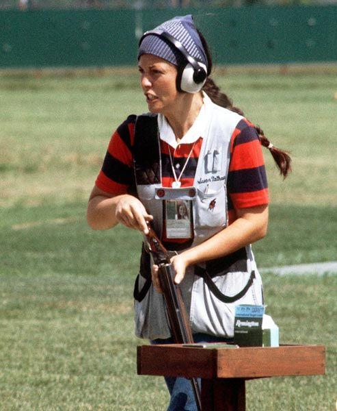 Susan Nattrass du Canada participe à l'épreuve de tir aux Jeux olympiques de Montréal de 1976. (Photo PC/AOC)