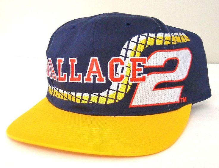 rare vtg RUSTY WALLACE #2 NASCAR HAT Snapback Navy-Blue Yellow Racing Cap Miller #CompetitorsView #RustyWallaceRacing