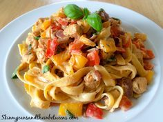 Creamy Spicy Cajun Chicken Tagliatelle | Skinny Jeans and the Inbetweens