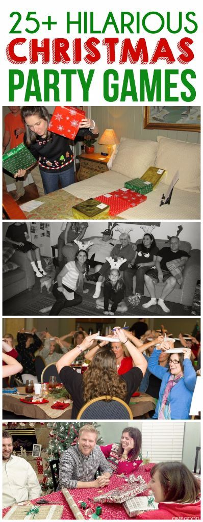 Looking for Christmas party ideas? These 25 Christmas party games are perfect for adults, for groups, for kids, or even for family night! Everything from your typical office white elephant gift exchange to ones where kids eat food! And plenty of free printable and DIY options. I'm definitely playing #20 this year!