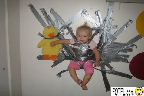 Duct tape is essential for child care