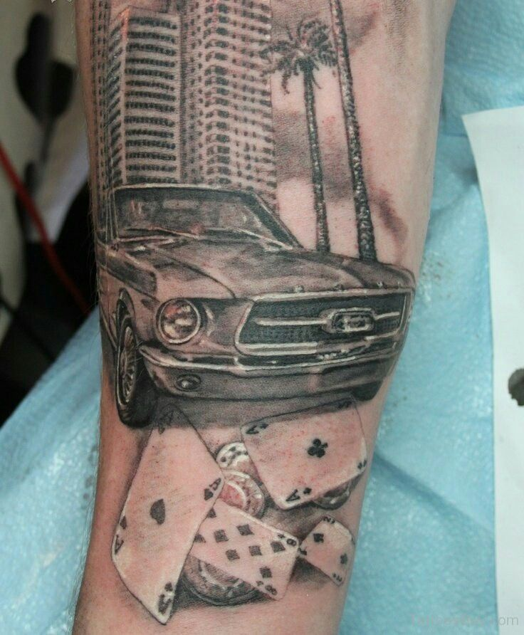 #Ford Mustang ❤ #tattoos                                                                                                                                                     More