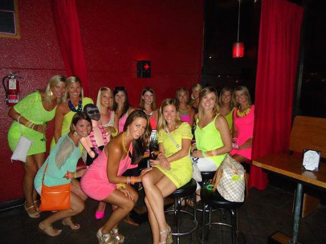 Love The Neon Themed Bachelorette Party I Much Rather This Than Typical Little Black