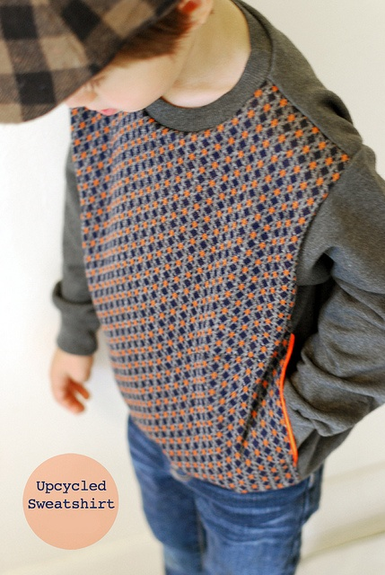 upcycled sweatshirt with pockets by Celina from Petit à Petit, via Flickr #imadethis #creativebug