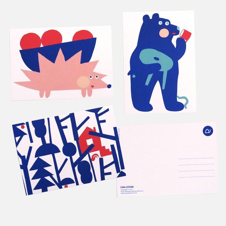 Etana Editions postcards by Réka Király