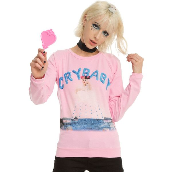Hot Topic Melanie Martinez Cry Baby Girls Pullover Top ($33) ❤ liked on Polyvore featuring tops and melanie martinez