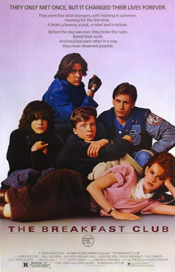 100 Best Movie Posters Of The 80 S Breakfast Club Movie The