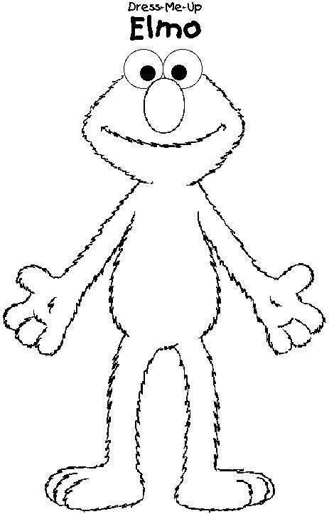 Elmo coloring page print elmo pictures to color at for Printable elmo cake template