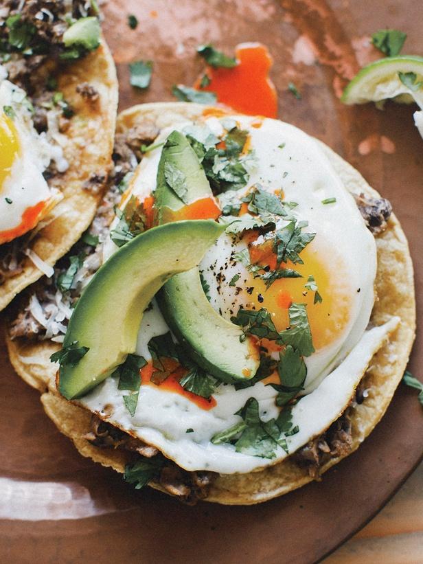 Ranchero Breakfast Tostadas via Cooking Channel