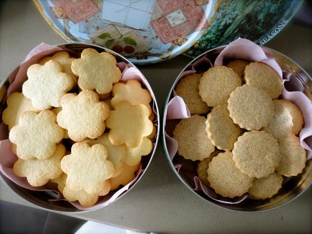 Galletas de coco y mantequilla