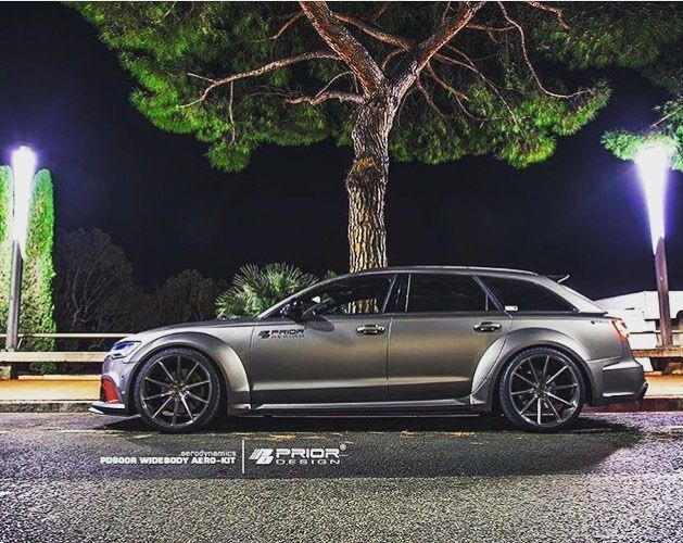 Audi RS6 - priordesign wide body kit with vossen wheels.