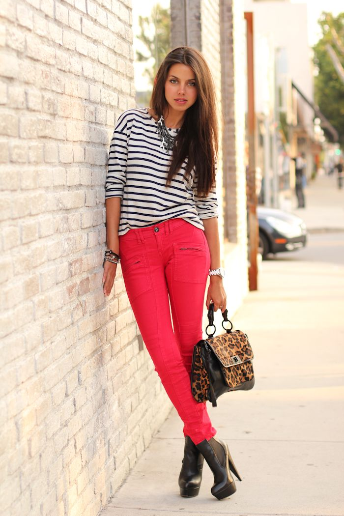 LOVE bright colored pants!