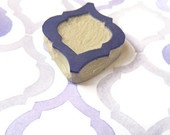 Moroccan Pattern Two, Pattern Rubber Stamp - Hand Carved Stamp. $12.00, via Etsy.